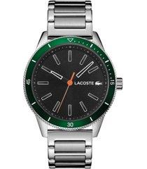 lacoste men's key west stainless steel bracelet watch 42mm