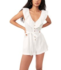 women's free people darling romper, size x-large - white