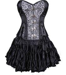 tutu torso overbust gothic corset dress