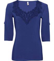 maglia con pizzo all''uncinetto (blu) - bodyflirt boutique