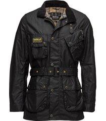 b.intl slim international wax jacket tunn jacka svart barbour