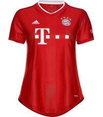 bayern munich women's home jersey t-shirts & tops football shirts röd adidas performance
