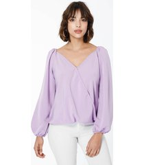 blusa violeta sans doute hebbe