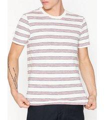 selected homme slhkasper stripe ss o-neck tee w ca t-shirts & linnen egret
