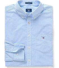 gant heren overhemd capri gestreept button-down poplin regular fit