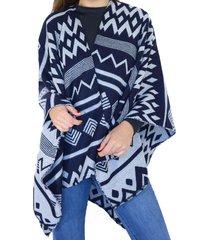 ruana azul almacén de paris mujer invierno