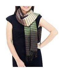 silk scarf, 'forest evolution' (thailand)