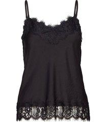 strap top t-shirts & tops sleeveless zwart rosemunde
