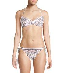 floral paisley bikini top