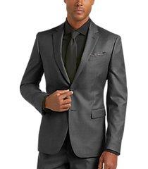 joe joseph abboud charcoal gray extreme slim fit suit