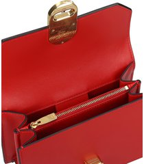 christian louboutin elisa mini shoulder bag in red leather