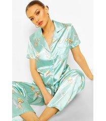 disney tinkerbell pyjama set met broek, muntgroen