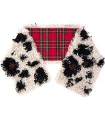 miu miu wraparound shearling scarf - neutrals