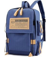 mochila para laptop vintage oxford laptop backpack college school mochila