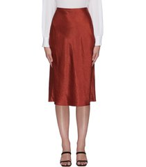 satin midi slip skirt