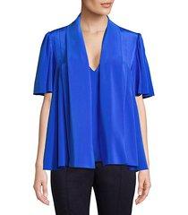 tie-neck silk blouse