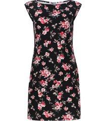 vestido claveles color negro, talla xs