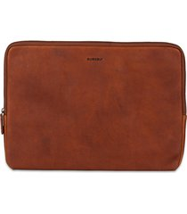 laptoptas burkely leren laptop sleeve15.6 inch antique avery