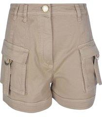 balmain high-waist cargo shorts