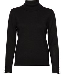 pullover-knit light turtleneck polotröja svart brandtex