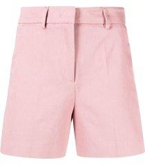 blanca vita thigh-length tailored shorts - pink