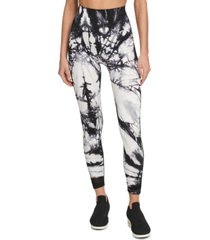 dkny sport tie-dyed high-waist leggings