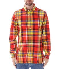 tommy hilfiger check flannel shirt |flame| 10717-0qq