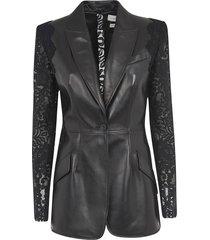 alexander mcqueen laced sleeve jacket