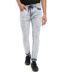 jeans desigual denim ares jogger celeste - calce slim fit