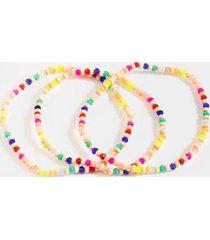 vicky beaded bracelet set - multi