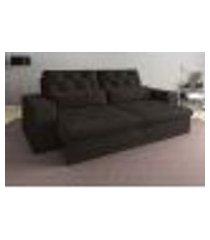 sofá 4 lugares net royale assento retrátil e reclinável chocolate 2,30m (l)