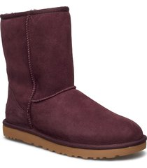 w classic short ii shoes boots ankle boots ankle boot - flat röd ugg