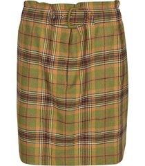 alberta ferretti check print skirt