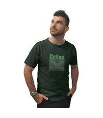 camiseta cellos cubo premium verde militar