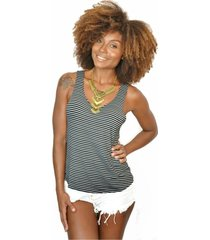 camiseta nalu rio listrada feminina