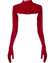 atu body couture glove detail top - red