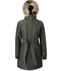 abrigo mujer new abbie verde doite