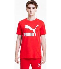 classics logo t-shirt voor heren, rood, maat 3xl | puma