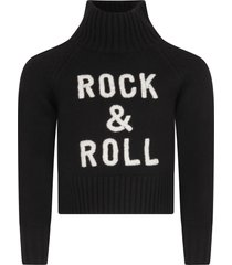 zadig & voltaire black sweater for girl