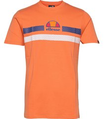 el glisenta tee t-shirts short-sleeved orange ellesse