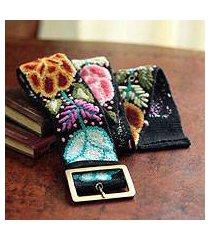 wool belt, 'exotic huantla' (peru)