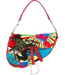 christian dior pre-owned reggae saddle tote - red