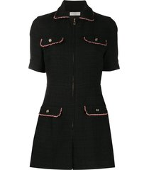 sandro paris cynthia tweed playsuit - black