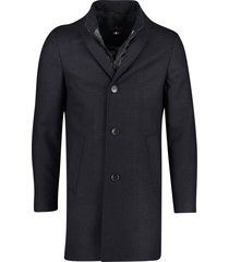 portofino jas lang donkerblauw geruit