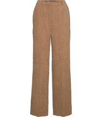 gaia mw trousers wijde broek bruin second female
