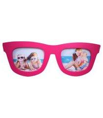 porta retrato minas de presentes óculos 2 fotos (grande) rosa