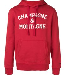 champagne & montagne red hoodie