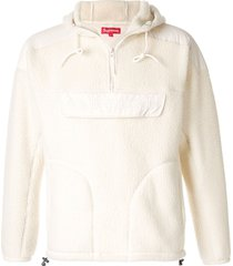 supreme soft hoodie - white