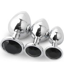 3pcs redondo convencional plug anal grande mediano y pequeño