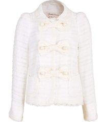pearl button tweed jacket